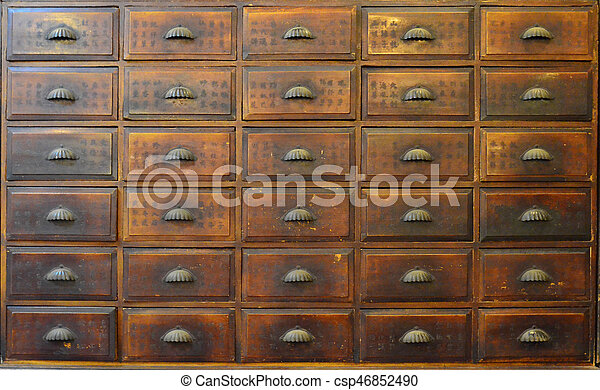 Merveilleux Traditional Chinese Medicine Cabinet   Csp46852490