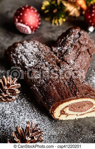 Christmas buche noel cake