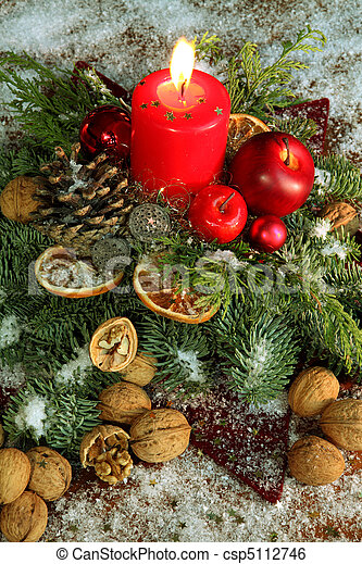 traditional christmas decoration csp5112746 - Traditional German Christmas Decorations