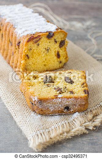 Traditional Christmas fruit cake - csp32495371