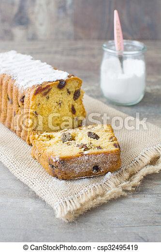 Traditional Christmas fruit cake - csp32495419