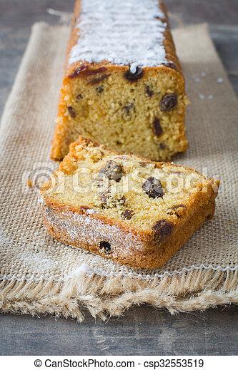 Traditional Christmas fruit cake - csp32553519
