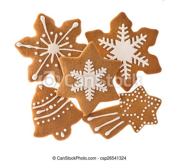 traditional christmas sweet food gingerbread cookies - csp26541324