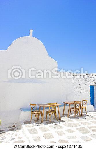 traditional church in Mykonos - csp21271435