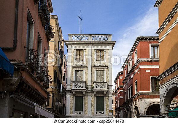 Traditional Colorful Buildings in Venice - csp25614470