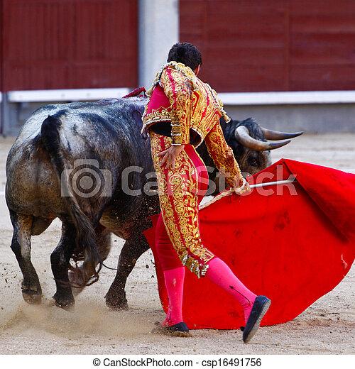 Traditional corrida - bullfighting in spain - csp16491756