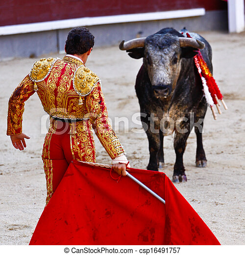 Traditional corrida - bullfighting in spain - csp16491757