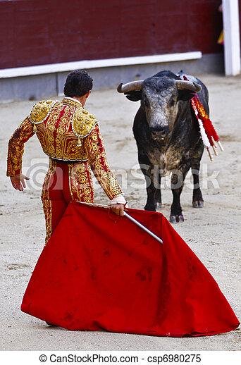 Traditional corrida - bullfighting in spain - csp6980275