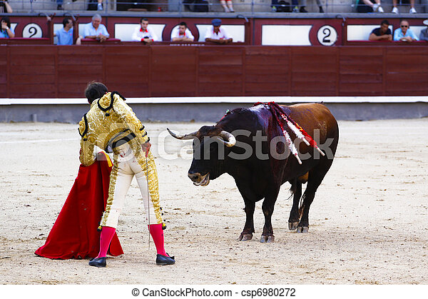 Traditional corrida - bullfighting in spain - csp6980272