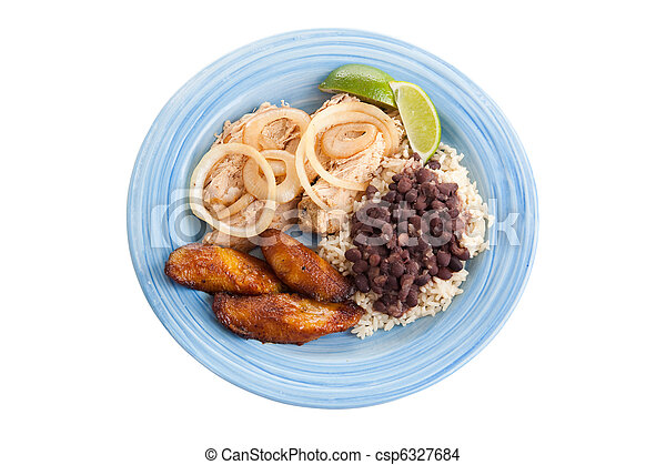 Traditional Cuban Dinner with Path - csp6327684