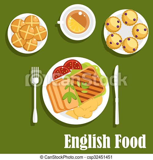 Traditional English Cuisine Lunch Food