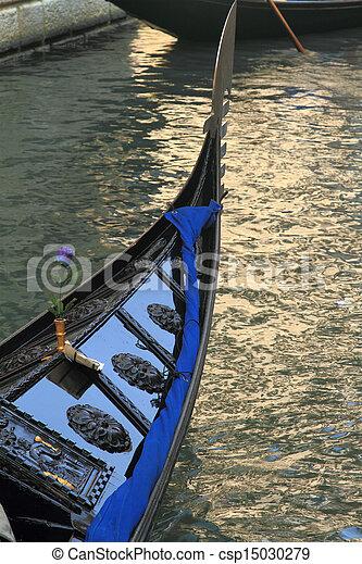 Traditional gondola in Venice, Italy - csp15030279