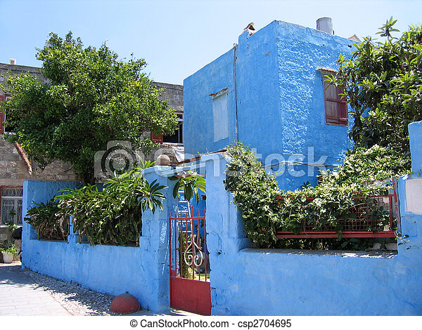 Traditional Greek house - csp2704695