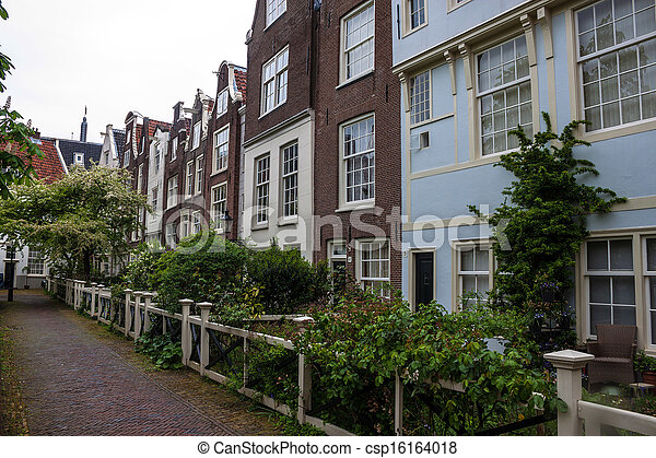 Traditional houses in Amsterdam - csp16164018
