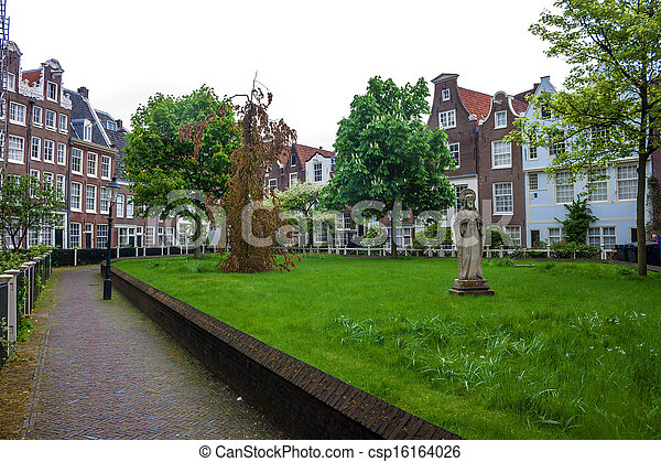 Traditional houses in Amsterdam - csp16164026
