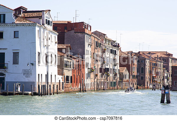 traditional houses in venice italy - csp7097816