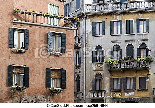 Traditional Houses in Venice, Italy - csp25614944