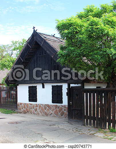Traditional hungarian village house - csp20743771