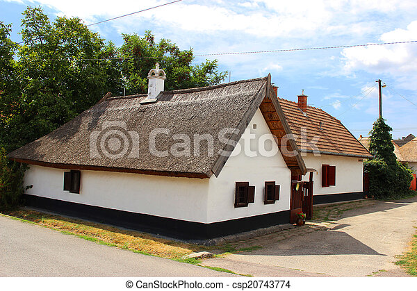 Traditional hungarian village house - csp20743774