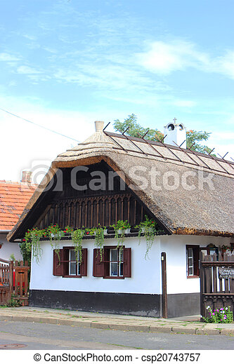 Traditional hungarian village house - csp20743757