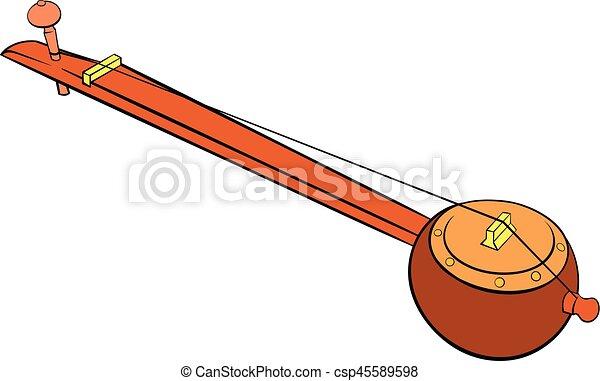 Traditional Indian ektara icon cartoon - csp45589598