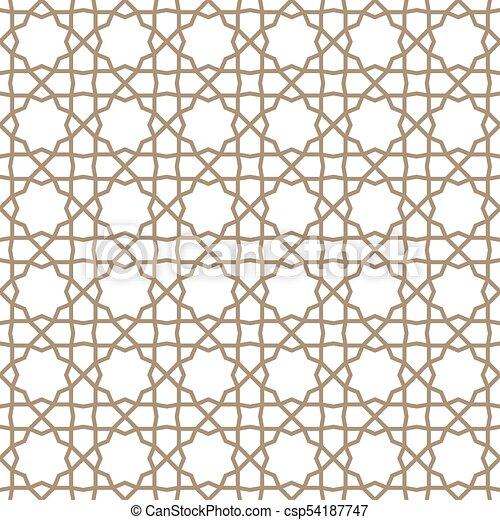 Traditional Islamic Ornament Turkish Seamless Pattern Traditional Fascinating Turkish Pattern
