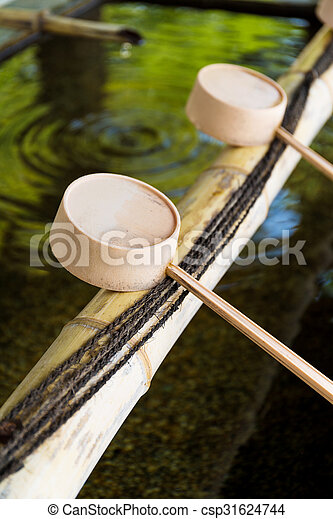 Traditional Japanese Bamboo Fountain Dripping Water Csp31624744