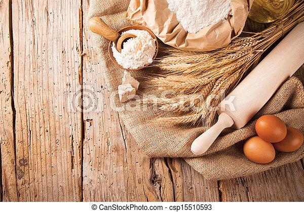 Traditional kitchen ingredients - csp15510593
