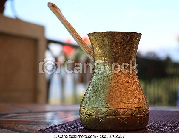 Traditional Lebanese Coffee Pot - csp58702657