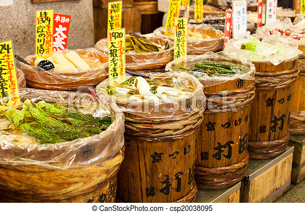 Traditional market in Japan. - csp20038095