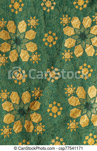Traditional medieval fabric design - csp77541171
