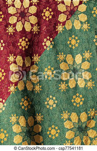 Traditional medieval fabric design - csp77541181