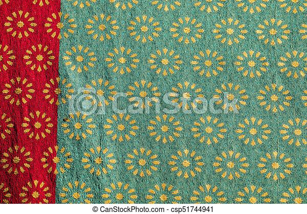 Traditional medieval fabric design - csp51744941