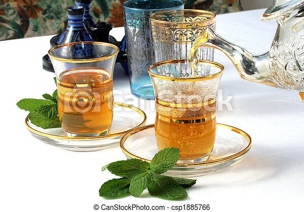 Traditional Moroccan mint tea - csp1885766