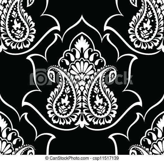 Traditional Paisley Wallpaper Vectors