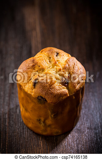 Traditional Panettone for Christmas - csp74165138