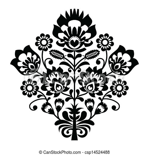 Traditional polish folk pattern  - csp14524488