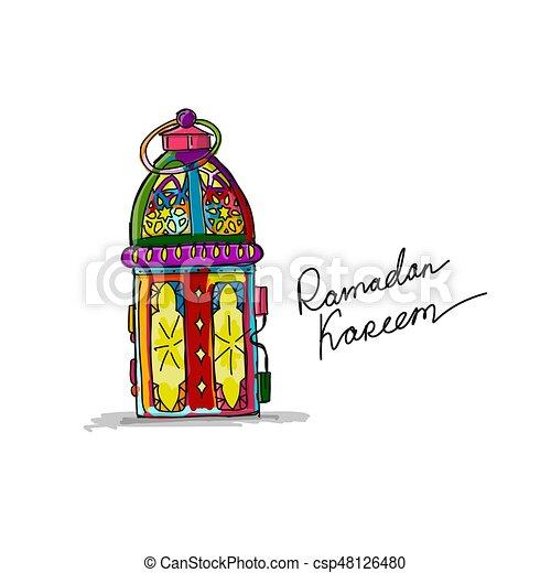 Traditional ramadan kareem month celebration greeting card traditional ramadan kareem month celebration greeting card design csp48126480 m4hsunfo