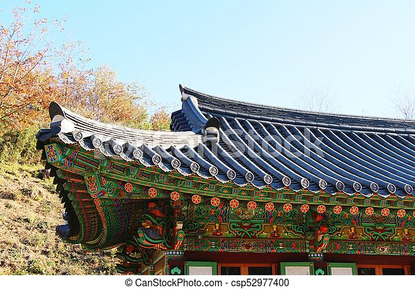 Traditional Roof Of Ancient At Korean Architecture