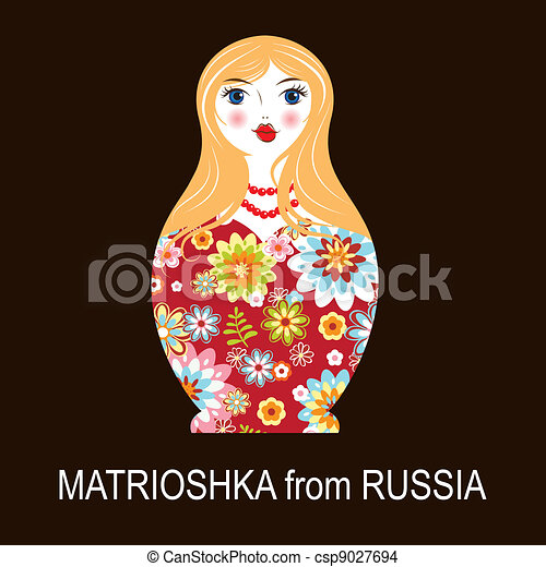 Traditional Russian matryoshka matrioshka doll - csp9027694