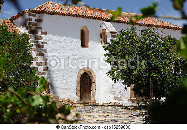 Traditional Spanish House Typical Home In Spain With Whitewashed