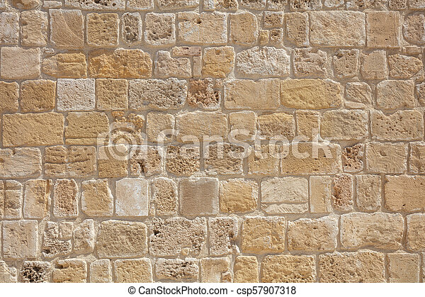 Traditional stone wall background in Cyprus