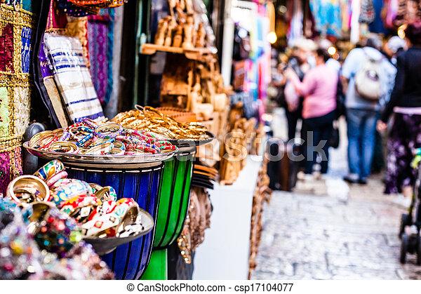 Traditional street market in Jerusalem, Israel. - csp17104077