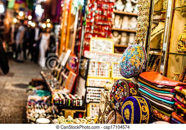 Traditional street market in Jerusalem, Israel. - csp17104574