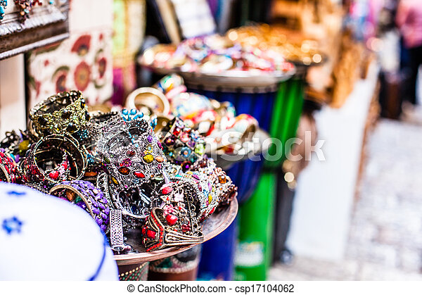 Traditional street market in Jerusalem, Israel. - csp17104062