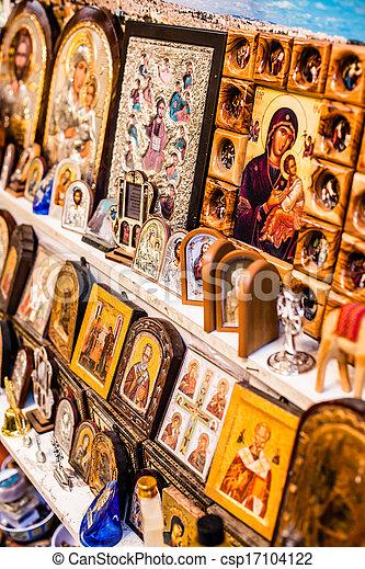 Traditional street market in Jerusalem, Israel. - csp17104122