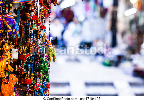 Traditional street market in Jerusalem, Israel. - csp17104107