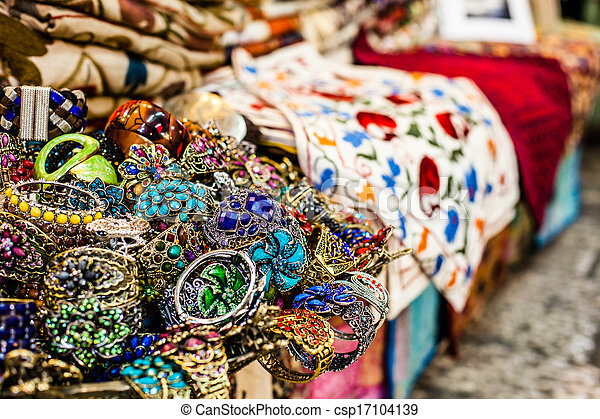 Traditional street market in Jerusalem, Israel. - csp17104139