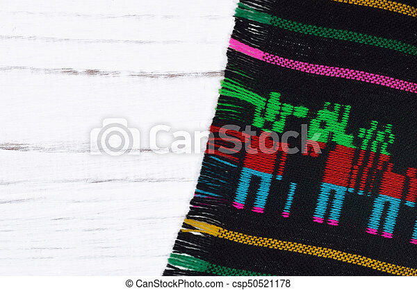 Traditional Textile With White Background