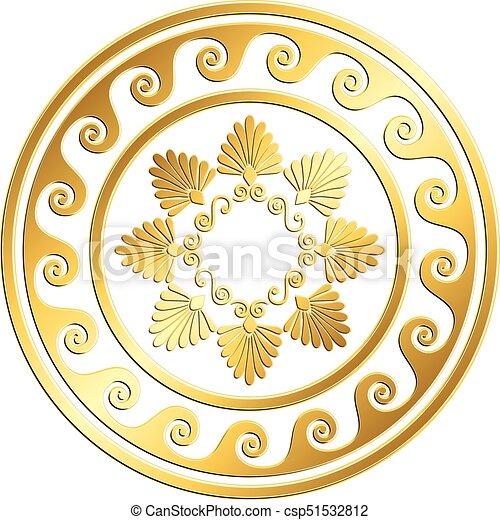ce285f81b7b1 Traditional vintage gold greek ornament